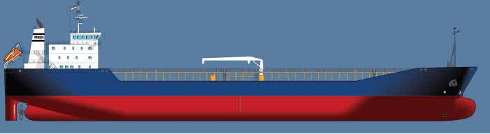 14000 ton tanker by Volharding shipbuilders.