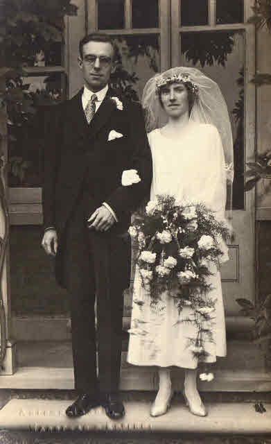 Bride and Groom, a 1922 wedding.