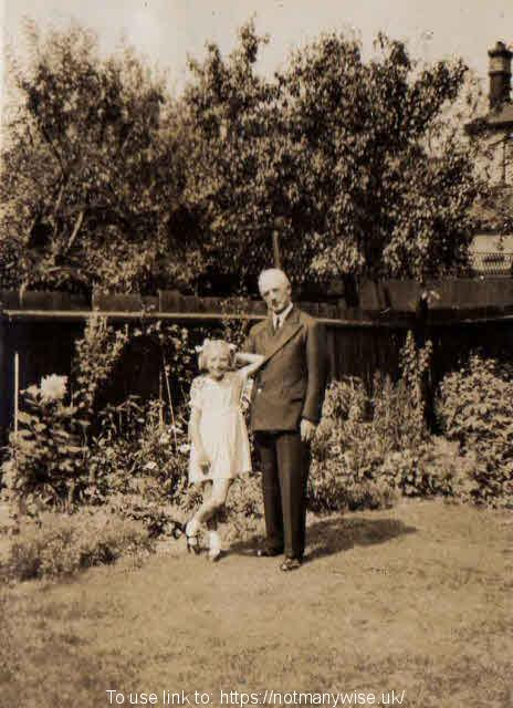 1936 Grandfather Rev John Haydon with Christine.