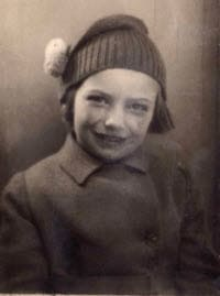 1937 Christine at Brighton Pier with a woolly hat.