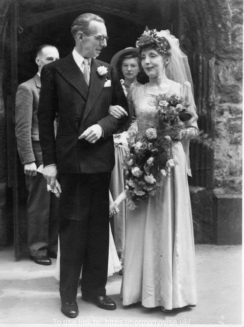 Bride and Bridegroom; Moya and George's wedding in 1946.