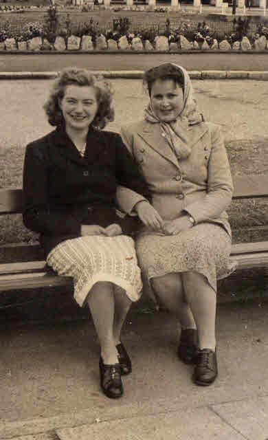 Christine and Beryl on the Teignmouth Promenade June 1948.