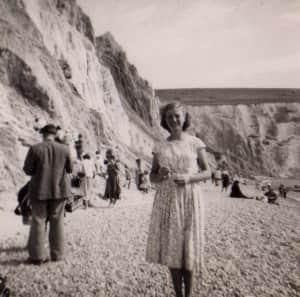 Christine at Alum Bay 1951 Christine Reason: my real life story 1949 to 1951