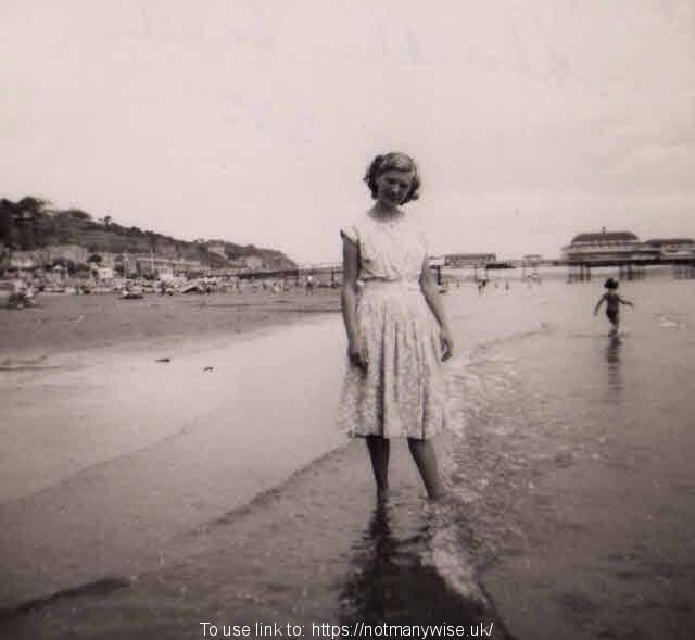 Christine at Shanklin Beach 1951