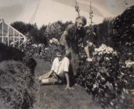 1954 Nellie with young Andrew Brown.