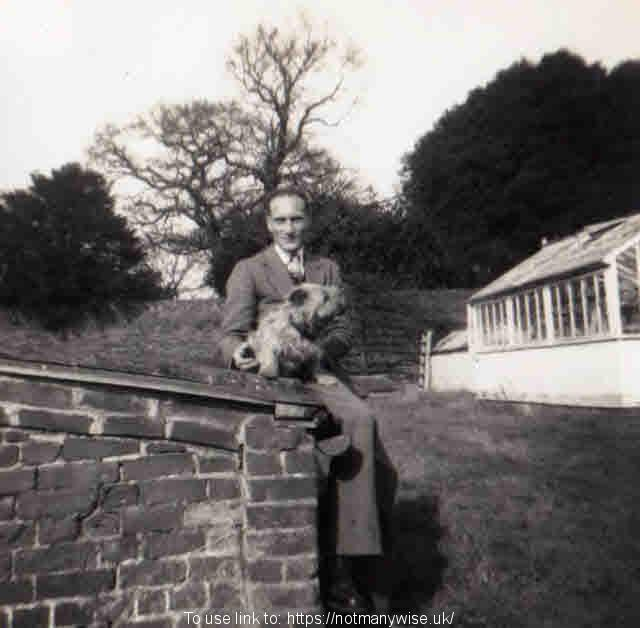 Roy Reason in November 1954 at Lord Rayleigh's, Terling, Essex.