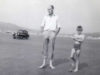 Roy with Peter at Black Rock Sands 1964.