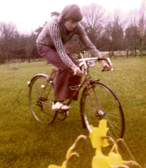Peter on his bike in 1974.