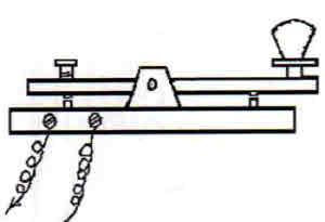 Morse code tapper key. The Silent Key.