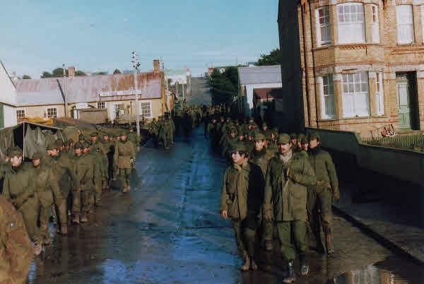 Orderly repatriation of Argentine army POWs 1982
