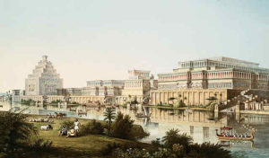 Artist's impression of Assyrian Palaces.