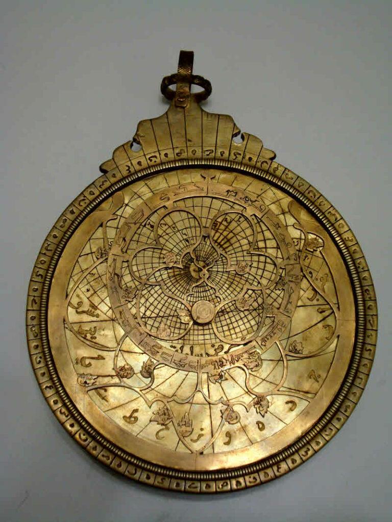 Brass Iranian Astrolabe, made by Jacopo koushan in Tabriz.
