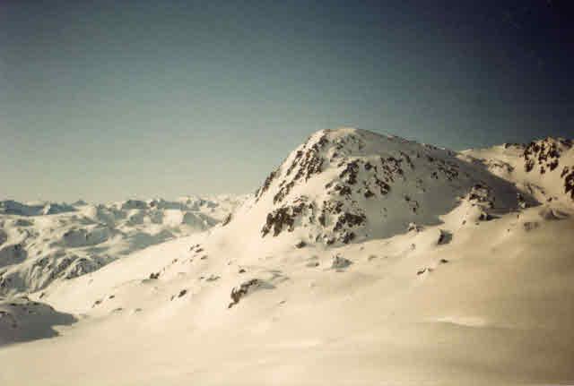 Snow covered mountain in the Austrian Tyrol near Innsbruck.