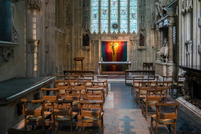 Inside Canterbury Cathedral.