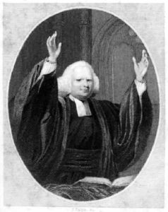 George Whitefield preaching.