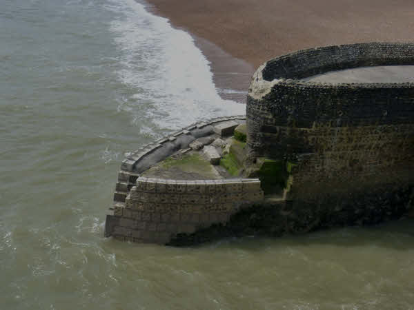 Storm damaged Groyne near Brighton Pier