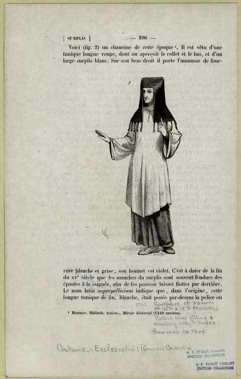 Surplice Of Canon Of 12th & 13th Century.