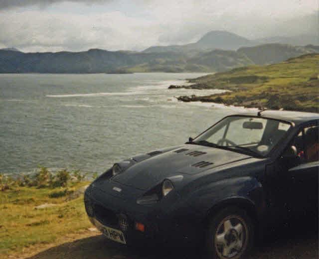 Midas sports car on Scotland's north coast.