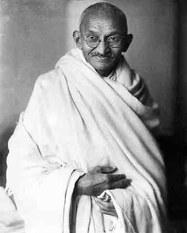 Mohandas K. Gandhi, London, 1931.