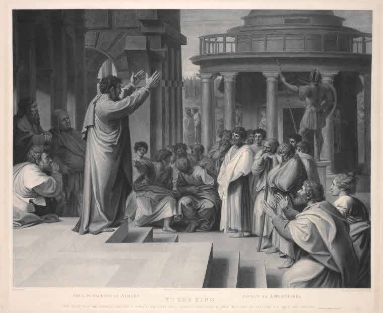 Paul preaching at Athens.