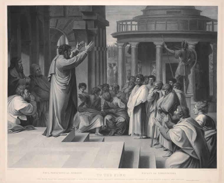 Paul preaching at Athens.