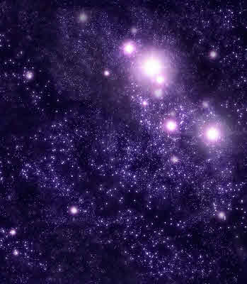 Starry Background Of Stars And Nebulas In Deep Outer Space. Are there Scientific laws?