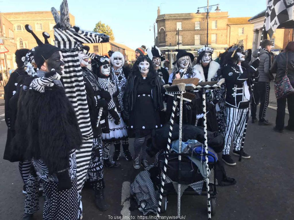 Straw Bear Festival with their strange costumes.