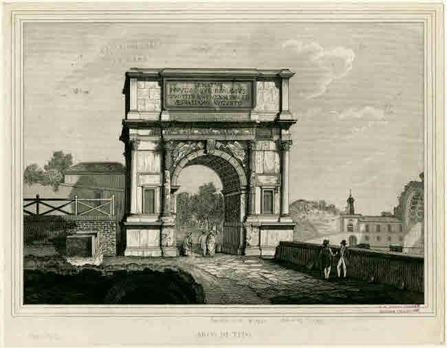 The Titus arch built after Jerusalem's defeat by the Romans.