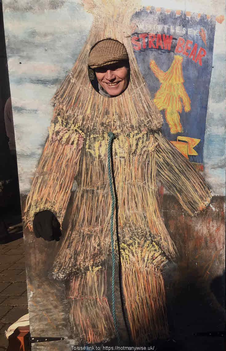 Photo opportunity at Whittlesey Straw Bear Festival.