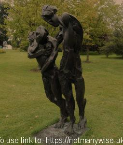 Bronze statues at Woburn Safari Park - do they look happy?