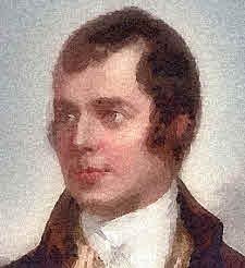 Robert Burns portrait.