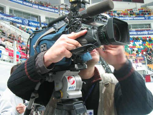 Newsreporters cameraman