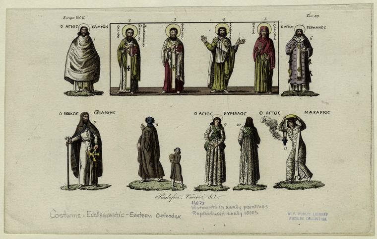 Clergy vestments from early paintings.