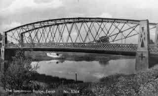 The old Earith Suspension Bridge.