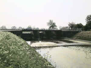 Modern day view of the sluice.
