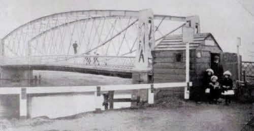 The old Earith Suspension Bridge.