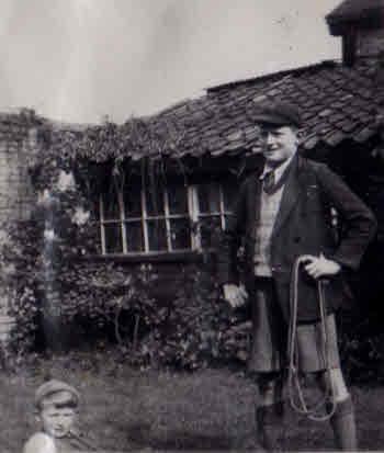 John (Jack) Wales in his garden.