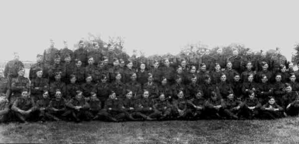 Earith, Colne and Bluntisham Homeguard formal photo.