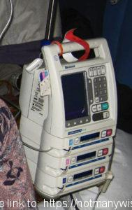 Hospital infusion pump for chemo and other drips.