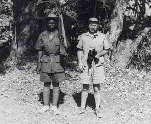 Joe Lucas with a Park Ranger as a guide.