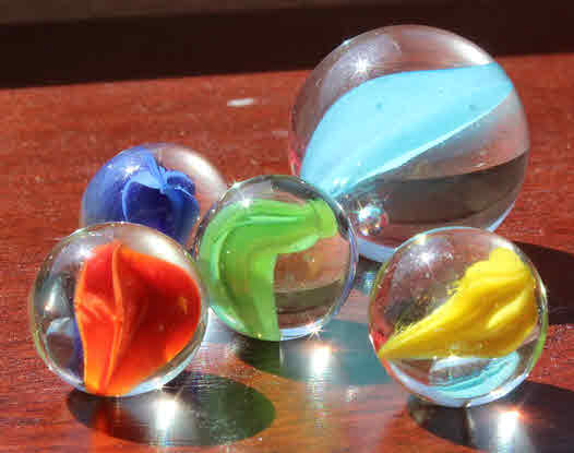 Five marbles.