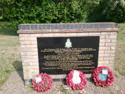The memorial at Earith for those who died in the air crash.