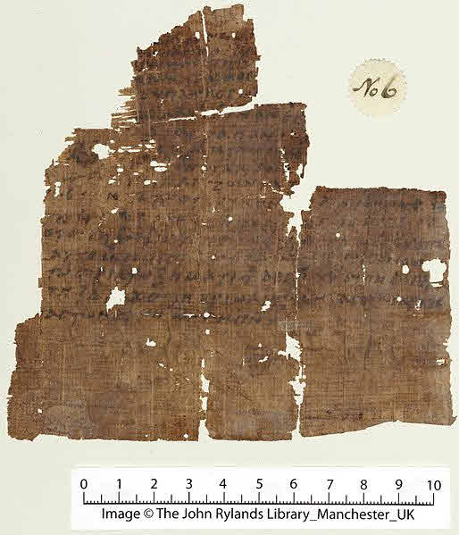 Nicene Creed fragments on papyrus.