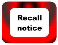 Recall notice.