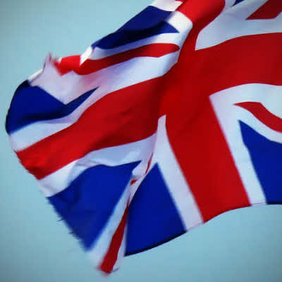 Union Flag flapping in the breeze.